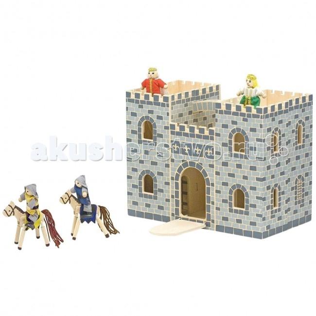 Деревянная игрушка Melissa &amp; Doug Маленький замок РыцарейМаленький замок РыцарейМаленький замок Рыцарей Melissa & Doug состоит из 12 деталей, фигурок, мебели и самого замка. Замок яркий, интересный, придется по душе любому ребенку без исключений и займет его на долгое время в увлекательной игре.  Игрушка изготовлена из экологически чистых, натуральных, безопасных для ребенка материалов.   Melissa & Doug - ведущий мировой производитель игрушек из натуральных материалов, прежде всего из дерева. Вся производимая продукция отличается надежностью, экологичностью и безопасностью для ребенка. Игрушки данной торговой марки предназначены не только для развлечения детей, а в первую очередь ориентированы на раннее развитие и обучение.<br>