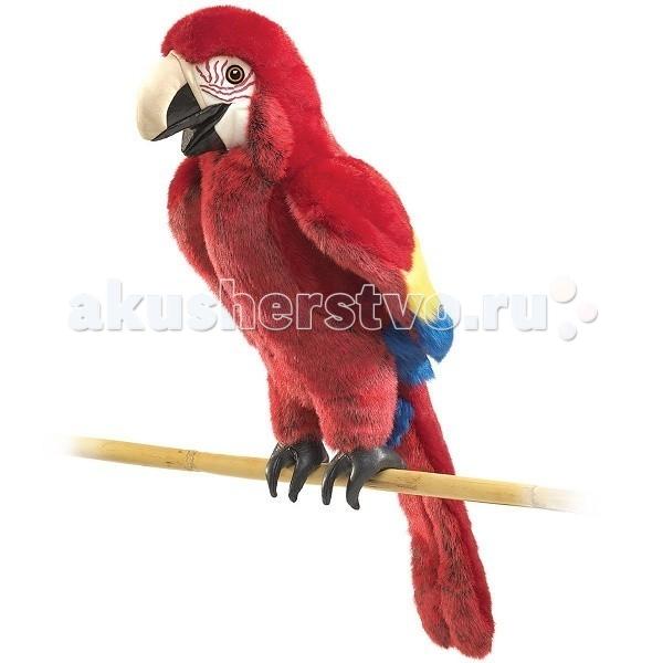 Folkmanis Мягкая игрушка на руку Попугай красный 63 смМягкая игрушка на руку Попугай красный 63 смFolkmanis Мягкая игрушка на руку Попугай красный 63 см  Особенности: Мягкая игрушка на руку Folkmanis puppets - это целая коллекция замечательных мягких игрушек - марионеток, созданная американской семейной мануфактурой.  Дизайн игрушек этой марки признан уникальным: исключительно натуралистический вид и трогательные сюжеты обеспечили коллекции продолжительный успех в США, странах Европы и России.  Все куклы созданы из экологически чистых материалов.  Игрушки Folkmanis могут быть не только обычной мягкой игрушкой, но и участниками кукольного представления.  С помощью этих игрушек дети знакомятся с окружающим миром, расширяют кругозор, развивают воображение, моторику рук.  Подвижные части: голова и рот.  Возможна бережная ручная стирка.<br>