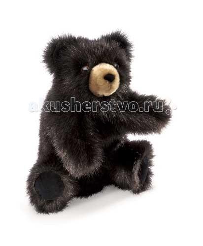 Ролевые игры Folkmanis Мягкая игрушка на руку Медвежонок черный 23 см