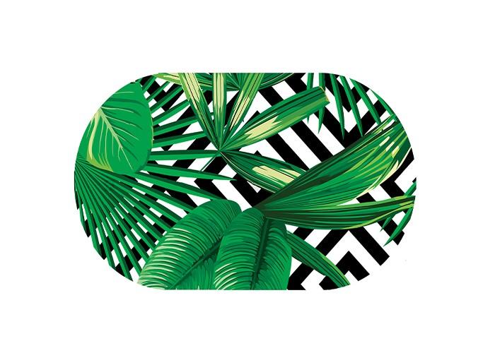 коврики для купания Коврики для купания Aqua-Prime Spa для ванны Тропические листья 68х38 см