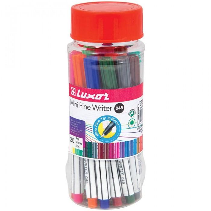 Фото - Канцелярия Luxor Набор капиллярных ручек Mini Fine Writer 045 20 цветов luxor набор капиллярных ручек luxor mini fine writer 045 20 цветов
