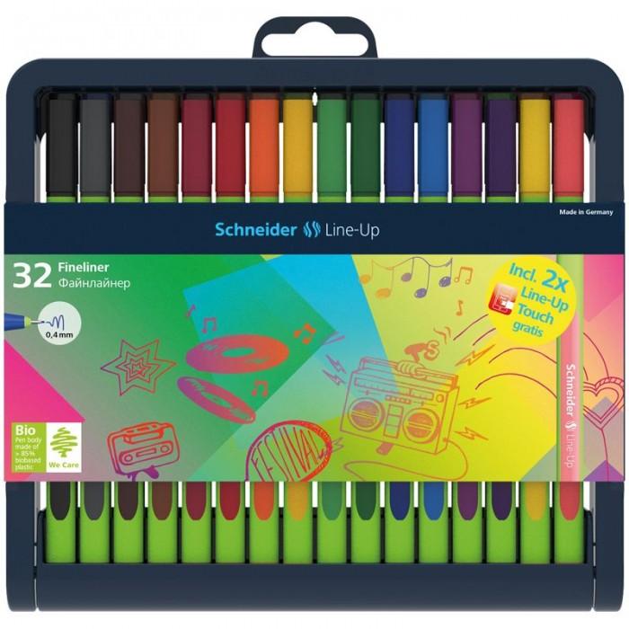 Купить Канцелярия, Schneider Набор капиллярных ручек Line-Up 30 цветов 32 шт.