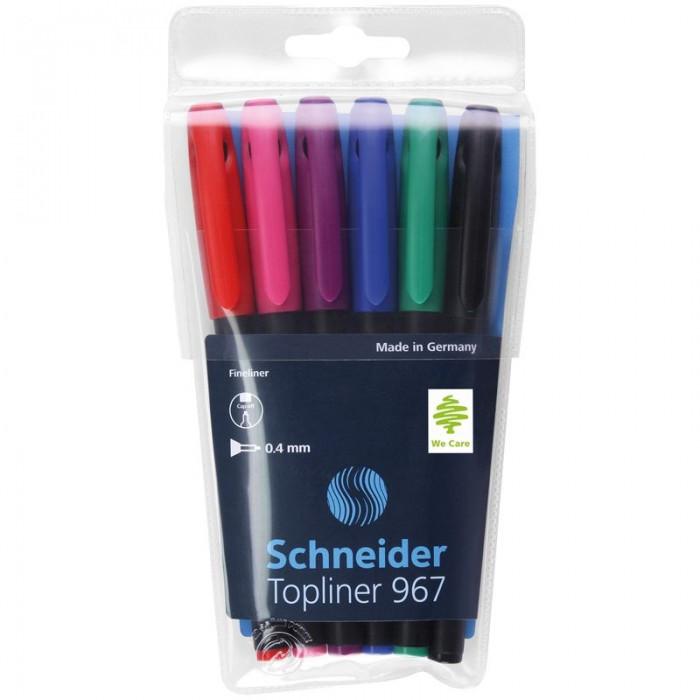 Канцелярия Schneider Набор капиллярных ручек Topliner 967 6 цветов