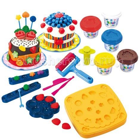 Всё для лепки Playgo Набор Праздничный торт набор игровой праздничный торт a7401