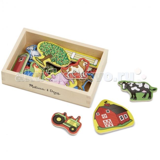 Купить Деревянные игрушки, Деревянная игрушка Melissa & Doug Магнитные игры Ферма