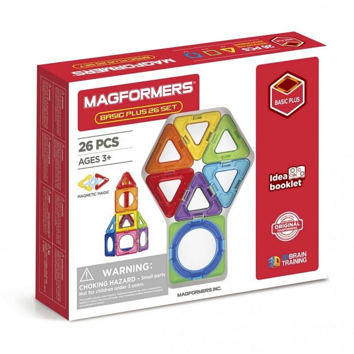 Картинка для Конструктор Magformers Магнитный Basic Plus 26 Set