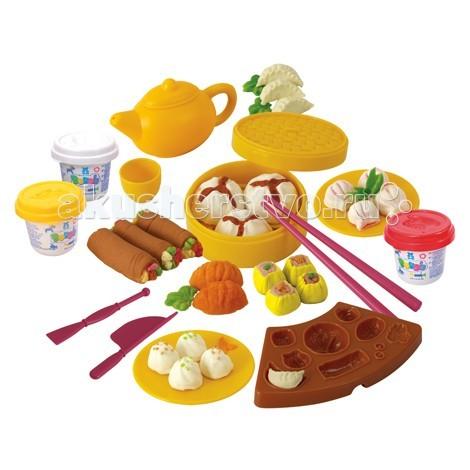 Купить Пластилин, Playgo Набор Китайская кухня