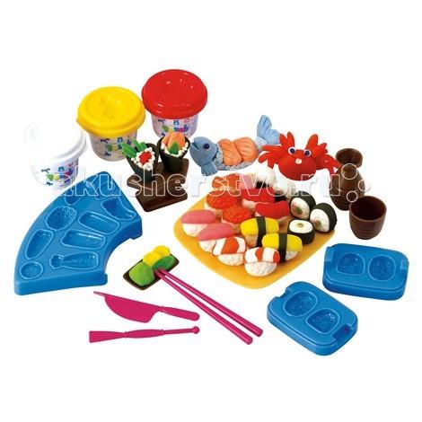 Всё для лепки Playgo Набор Суши и роллы всё для лепки playgo набор суши бар