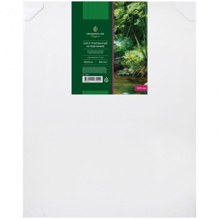 Купить Принадлежности для рисования, Greenwich Line Холст на подрамнике среднее зерно 40x50 см