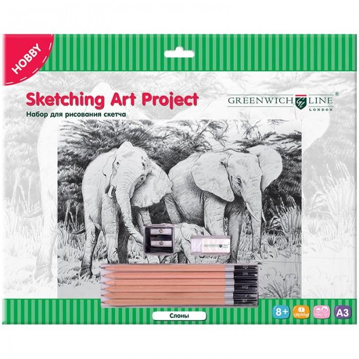 Купить Greenwich Line Набор для рисования скетча A3 Слоны в интернет магазине. Цены, фото, описания, характеристики, отзывы, обзоры
