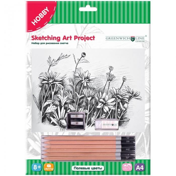 Принадлежности для рисования Greenwich Line Набор для рисования скетча A4 Полевые цветы greenwich line набор для рисования скетча перед штормом sk 14608