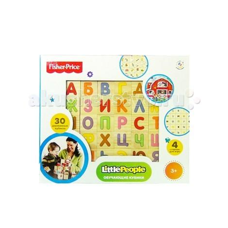 Деревянная игрушка Fisher Price кубики Алфавит