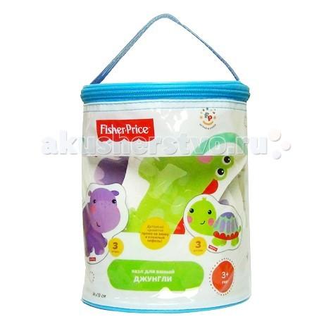 Игрушки для ванны Fisher Price Пазл для ванной Джунгли step puzzle пазл для малышей fisher price 91148