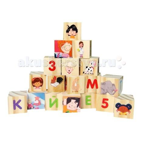 Деревянная игрушка Fisher Price кубики Алфавит FP 30594