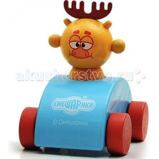 Деревянные игрушки Смешарики Машинка Лосяша смешарики малышам поехали кататься