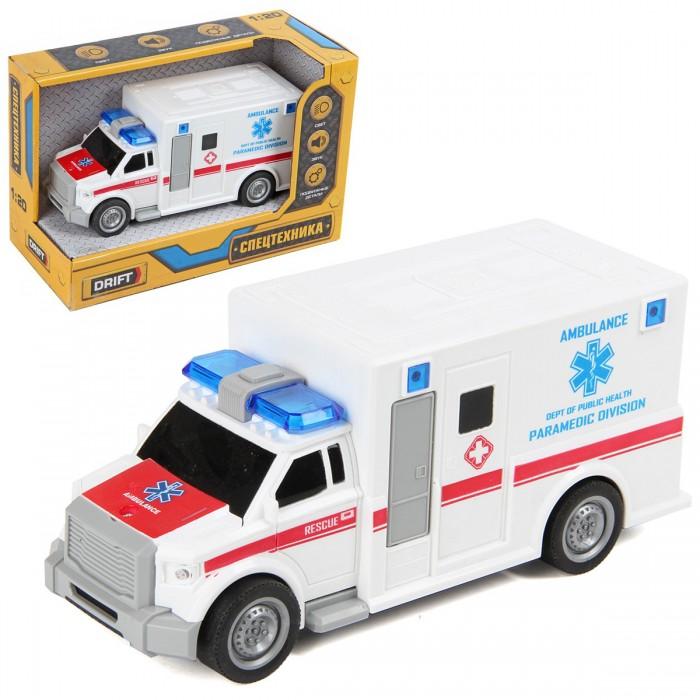 Машины Drift Машина скорой помощи Emergency Call 1:20 машины drift машина с подъемным краном