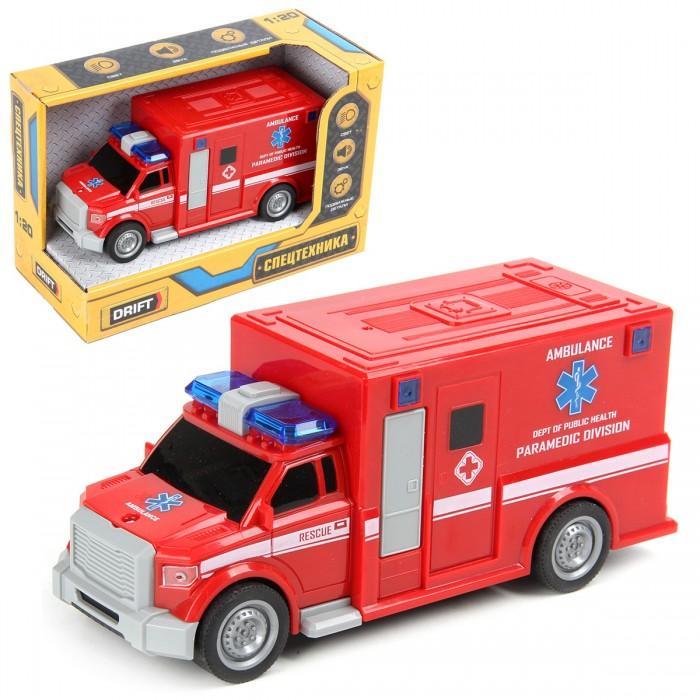 Машины Drift Машина скорой помощи Rescue Team 1:20 машины drift машина с подъемным краном