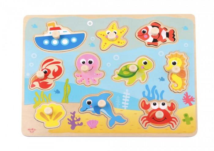Деревянные игрушки Tooky Toy Пазл Морские обитатели TY856 деревянные игрушки viga пазл морские обитатели
