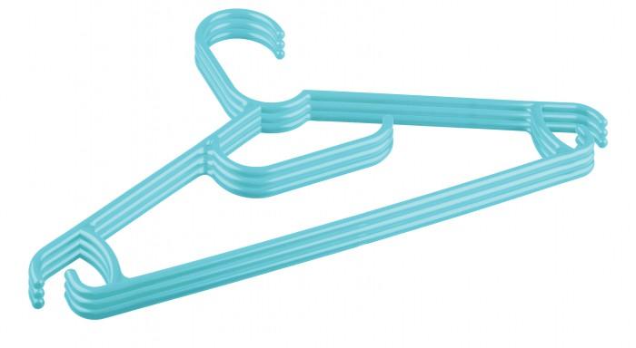 Аксессуары для комнаты Пластишка Комплект вешалок для детской одежды 31.5 см (Микс) 3 шт. гардеробные вешалки для одежды