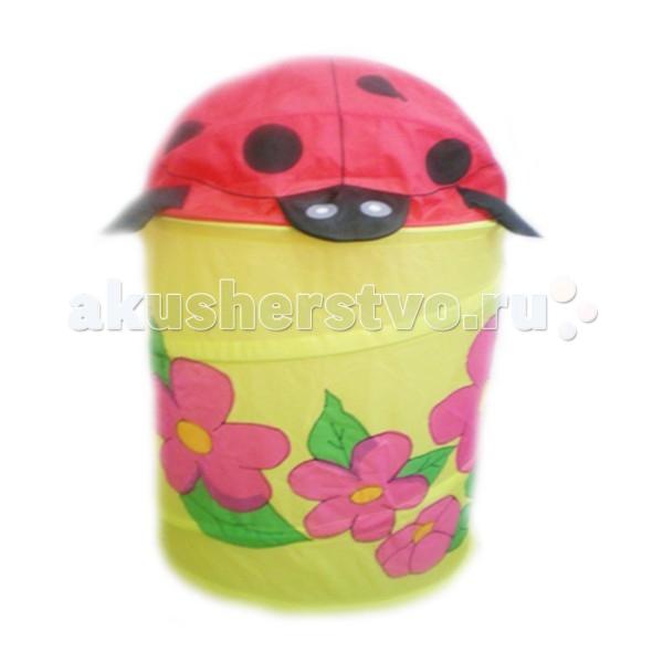 Ящики для игрушек Li Hsen Корзина для игрушек Божья коровка с цветочками ящики для игрушек li hsen корзина для игрушек котик