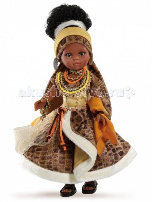 Куклы и одежда для кукол Paola Reina Кукла Нора африканка 32 см paola reina пупс без одежды 22 см 31019