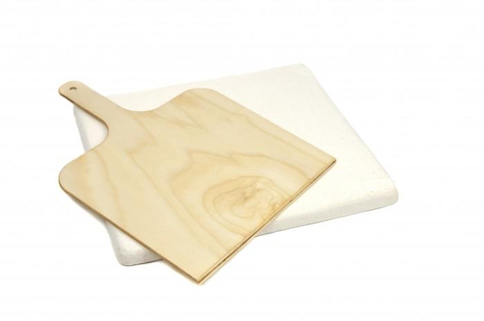 B.Baker Пекарский камень для выпечки с лопаткой для хлеба и пиццы 30x40x2 см