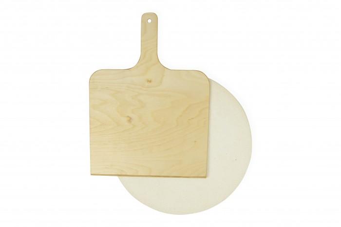 B.Baker Пекарский камень для выпечки с лопаткой для хлеба и пиццы 34x2 см от B.Baker