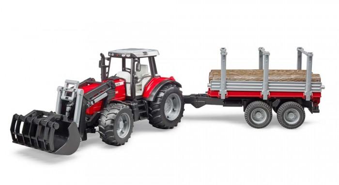Картинка для Bruder Трактор Massey Ferguson c манипулятором и прицепом