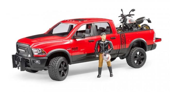 Картинка для Bruder Внедорожник Ram с мотоциклом Ducati 02-502