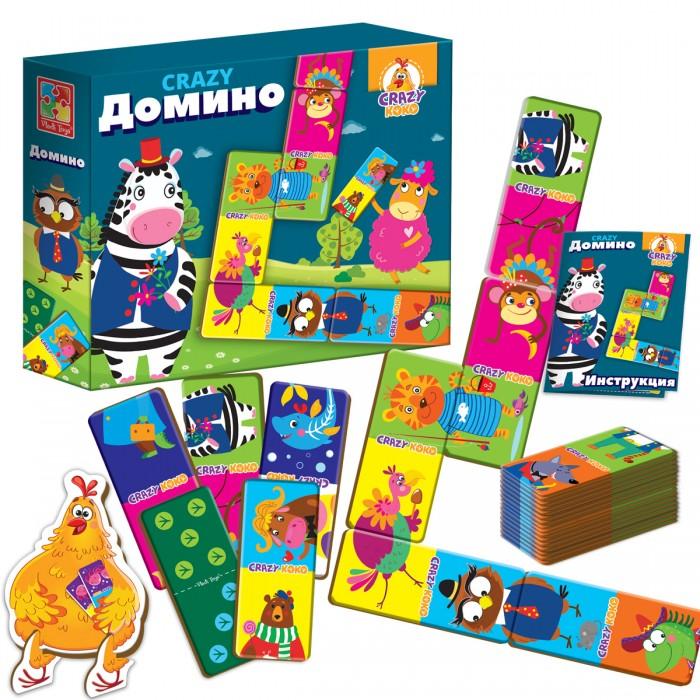 Настольные игры Vladi toys Настольная игра Crazy Домино