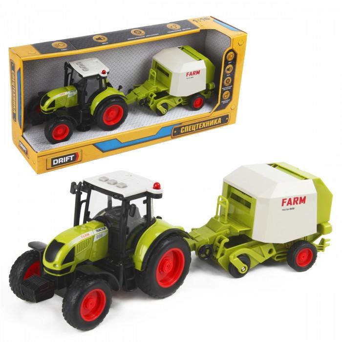 Машины Drift Трактор с пресс-подборщиком для сена Farmland 1:16