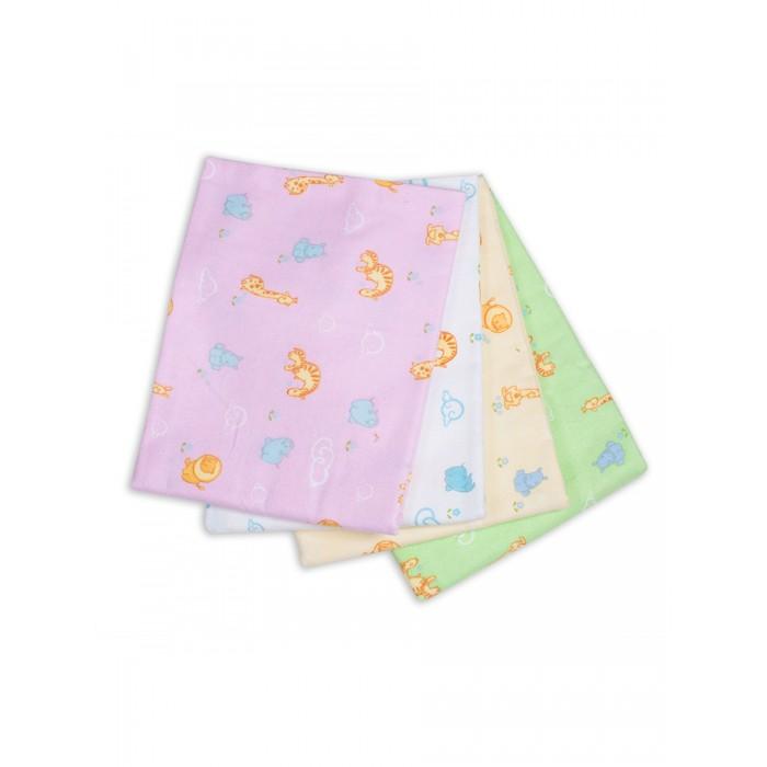 Пеленка Чудо-чадо для новорожденных фланелевая Дочке Зверюшки 4 шт.