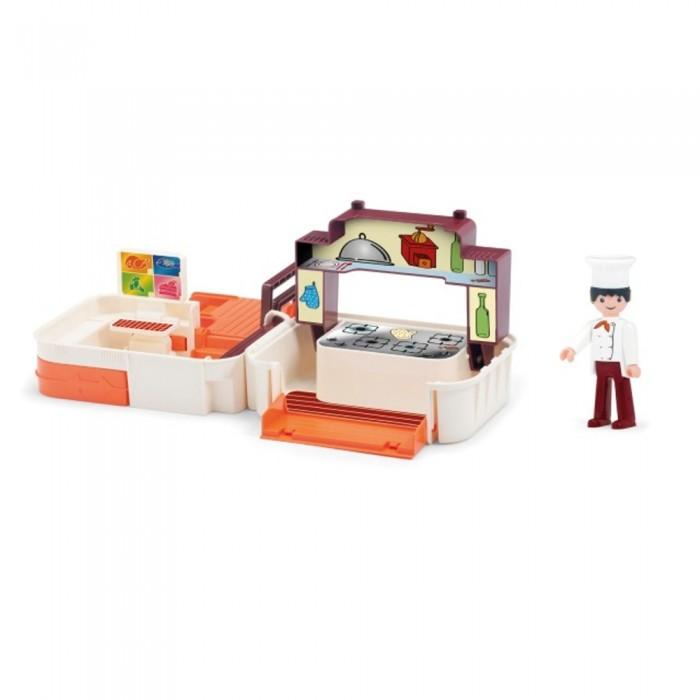 Фото - Игровые наборы Efko Раскладывающийся игровой набор Кухня с аксессуарами и фигуркой повара игровые наборы lil woodzeez набор игровой семья коал