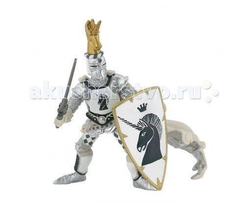 Игровые фигурки Papo Игровая реалистичная фигурка Рыцарь серебряного единорога игровые фигурки papo игровая реалистичная фигурка цератозавр