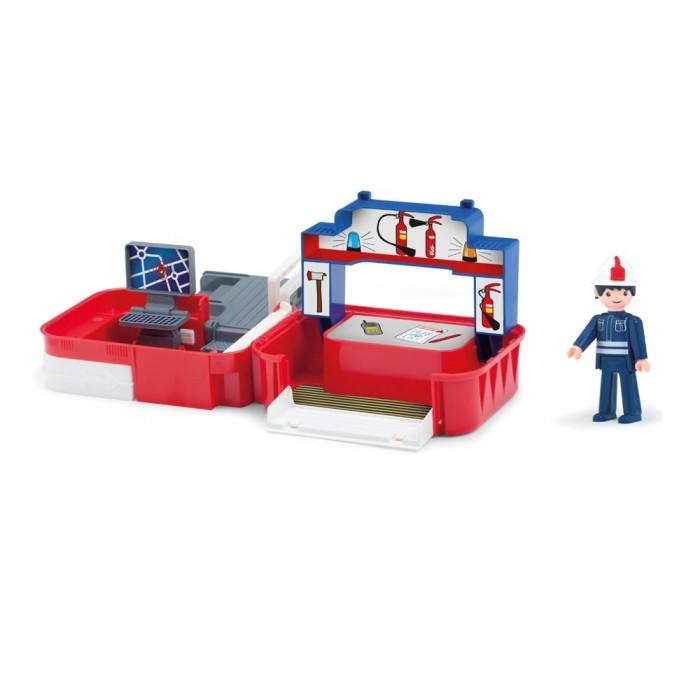 Игровые наборы Efko Раскладывающийся игровой набор Пожарная станция с аксессуарами и фигуркой пожарного