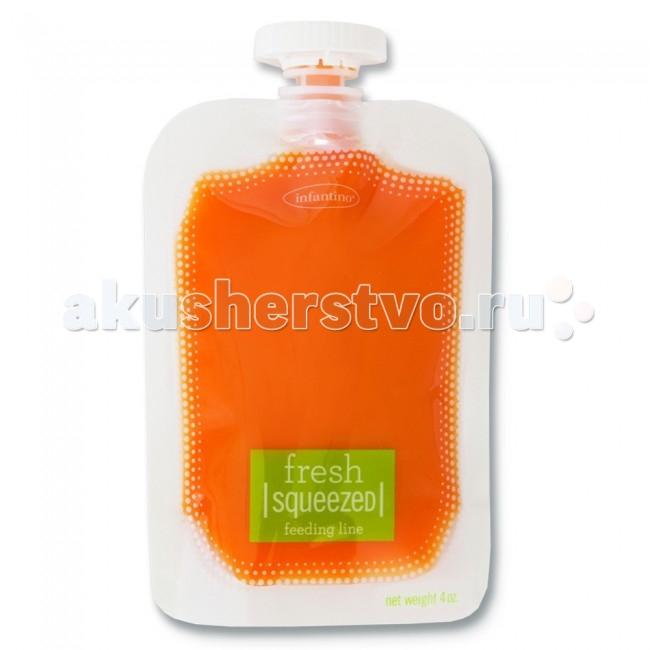 Infantino Мягкая упаковка 50 шт. для пюре и смузи 25 крышечек