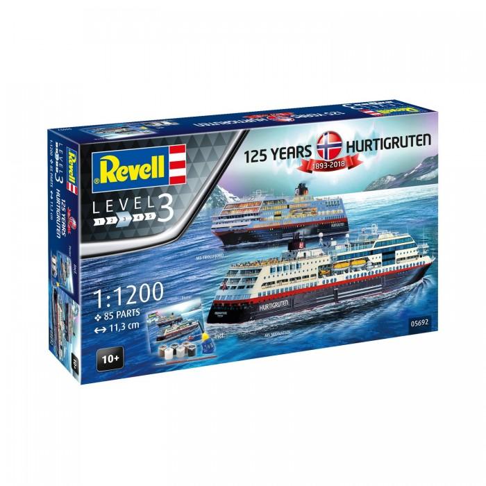Revell Подарочный набор со сборными моделями 125 лет Hurtigruten Trollfjord & Midnatsol от Revell