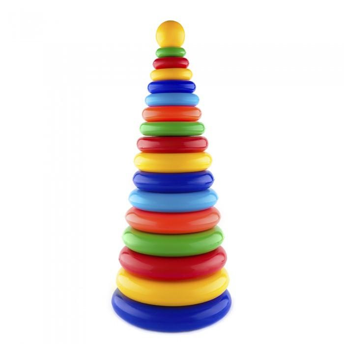 Купить Развивающие игрушки, Развивающая игрушка Пластмастер Пирамида Супергигант 49 см