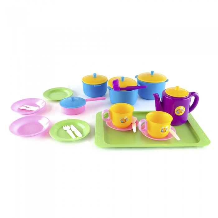 Ролевые игры Пластмастер Набор посуды Обед