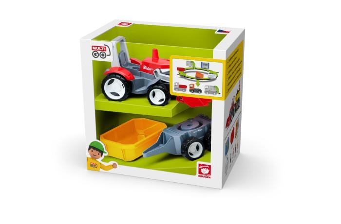 трактор с прицепом игрушка efko трактор с прицепом игрушка Машины Efko Трактор с дополнительным прицепом Вертикальная упаковка