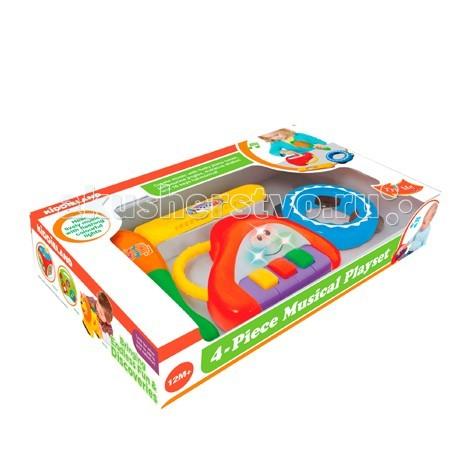 Музыкальная игрушка Kiddieland Набор инструментов KID 053231Набор инструментов KID 053231Музыкальная игрушка Kiddieland Набор инструментов KID 053231 - отличный выбор малшам, благодаря которому они познакомятся с музыкой!   В набор входят: губная гармошка, пианино, бубен.   Все предметы имеют световые и звуковые эффекты, а также удобные ручки, с помощью которых малышу будет удобно держать их в руке. Игра с музыкальными инструментами поднимет настроению ребенку и всем окружающим, а также поможет в развитии музыкального слуха, артистичности и творческого мышления.<br>