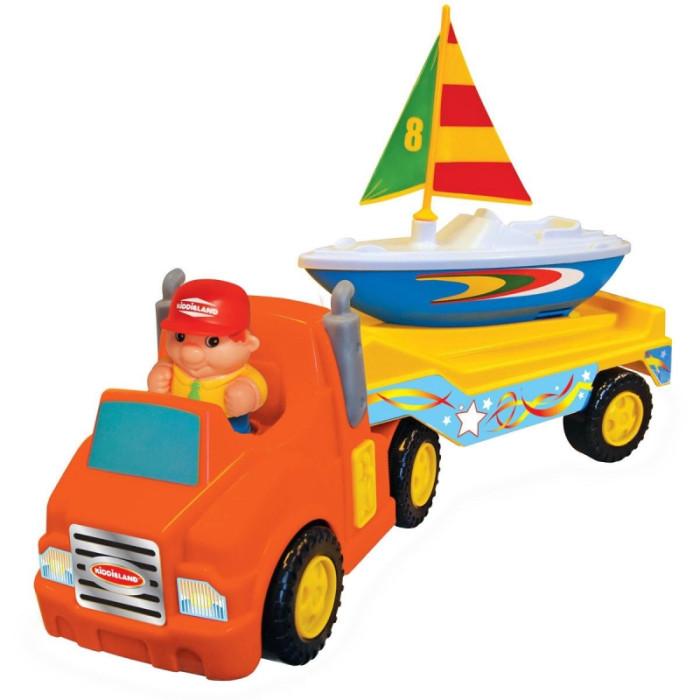 Kiddieland Трейлер с яхтой без мотораТрейлер с яхтой без мотораKiddieland Трейлер с яхтой без мотора - веселый водитель везет яхту на своем ярком трейлере, чтобы спустить ее на воду, и приглашает малыша в увлекательное путешествие! Прицеп легко отцепляется от трейлера, а с яхтой можно поиграть в воде.  Замечательный трейлер для яхты, который доставит Вашему ребенку много приятных моментов. Модель выполнена из качественных материалов, ярких насыщенных цветов. Станет отличным подарком по любому поводу.<br>