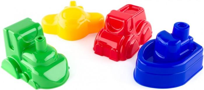 Игрушки в песочницу Пластмастер Набор формочек Транспорт