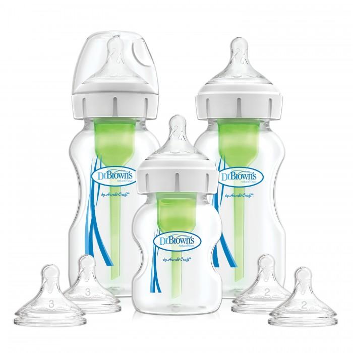 Купить Бутылочки, Бутылочка Dr.Brown's Набор из трёх антиколиковых бутылочек Options+ с широким горлышком 2х270 мл, 1х150 мл