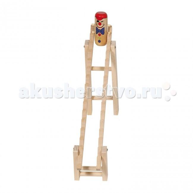 Деревянные игрушки Goki Клоун на лесенке