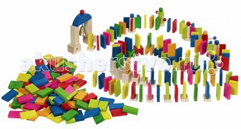 Деревянные игрушки Goki Конструктор Домино