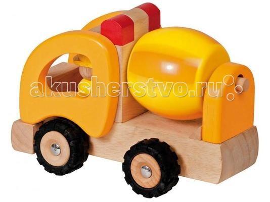 Деревянная игрушка Goki Машинка Бетономешалка