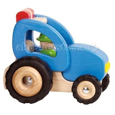 Деревянные игрушки Goki Машинка Трактор, Деревянные игрушки - артикул:74476