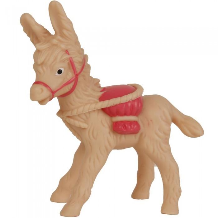 Развивающая игрушка Schildkroet Пищалка виниловая ослик с розовым мешком-поклаже 13 см