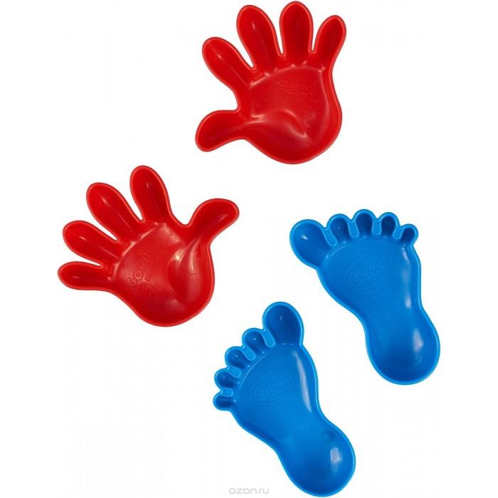 цены  Игрушки для зимы Gowi Набор формочек для песка Ручки и ножки